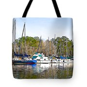Fine Day To Sail - Illustration Style  Tote Bag