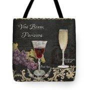 Fine French Wines - Vins Beaux Parisiens Tote Bag