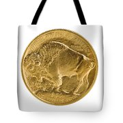 Fine Gold Buffalo Gold Coin On White Background  Tote Bag