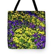 Fine Wine Cafe Colorful Garden Tote Bag