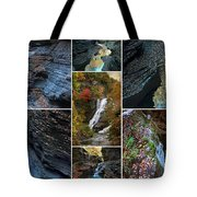 Finger Lakes Gorges Collage Tote Bag