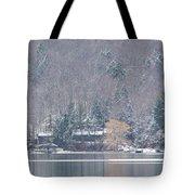 Finger Lakes Winter Panorama Tote Bag