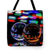 Finger Light Painted Glass Ball Abstract Tote Bag