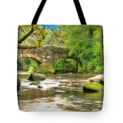 Fingle Bridge - P4a16013 Tote Bag