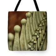 Finials All In A Row Tote Bag
