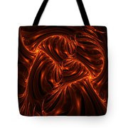 Fire Abstraction Tote Bag