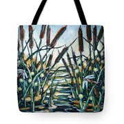 Fire And Dragonflies Tote Bag