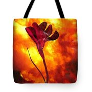 Fire And Flower Tote Bag
