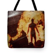 Fire And Ghost Man Tote Bag by Randy Sylvia
