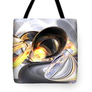 Fire And Ice Abstract Tote Bag