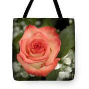 Fire And Ice Rose Tote Bag