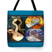 Fire And Ice Slither Collage Tote Bag