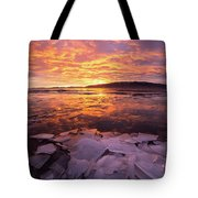 Fire And Ice Tote Bag by Wesley Aston