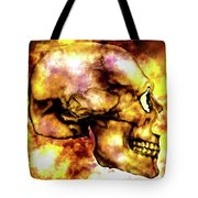Fire And Skull Tote Bag