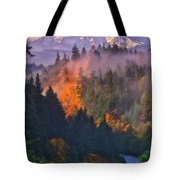 Fire And Smoke Tote Bag