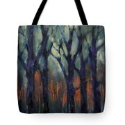 Fire At Sunset Tote Bag