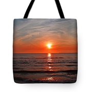 Fire At Twilight Tote Bag