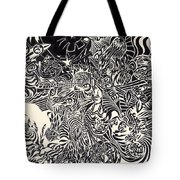 Fire Breathing Cow Tote Bag