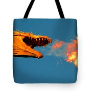 Fire Breathing Dragon Pano Work Tote Bag