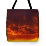 Fire Clouds Tote Bag