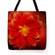 Fire Dahlia By Kaye Menner Tote Bag