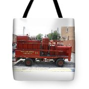 Fire Engine Of Older Years  Tote Bag