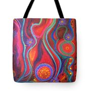 Fire Engine Red Explosion Tote Bag by Daina White