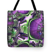 Fire Escape Fractal Tote Bag