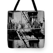 Fire Escape With Clothes Hung To Dry Tote Bag