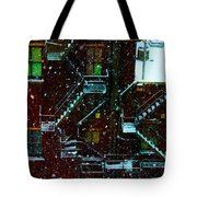 Fire Escapes In The Snow Tote Bag