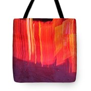 Fire Fence Tote Bag