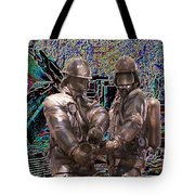 Fire Fighters Memorial Seattle Tote Bag