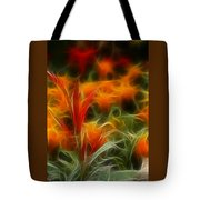Fire Flowers 5227 Tote Bag