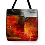 Fire Hazard Original Madart Painting Tote Bag