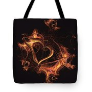 Fire Heart Tote Bag