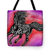 Fire Horse Burn 4 Tote Bag