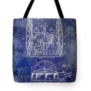 Fire Hose Cart Patent Blue Tote Bag