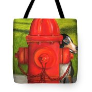 Fire Hydrant Dog Tote Bag