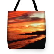 Fire In Sky Tote Bag