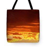 Fire In The Sky 3 Tote Bag