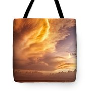 Fire In The Sky Tote Bag by Dave Bowman