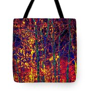 Fire In The Trees Tote Bag