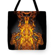 Fire Leather Tote Bag