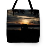 Fire Light Sunset Tote Bag
