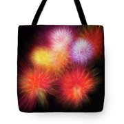 Fire Mums Floral - Fireworks Collage Tote Bag