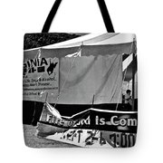 Fire Of God Is Coming Bw Tote Bag