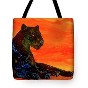 Fire Panther  Tote Bag