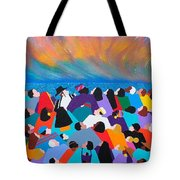 Fire Rainbow Obama Tote Bag
