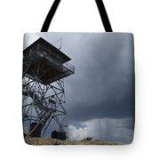 Fire Tower On Bald Mountain Surrounded Tote Bag
