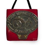 Fire Truck Plaque Tote Bag